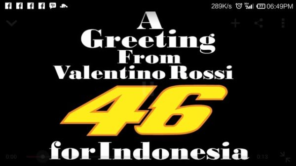 Happy fasting from Valentino Rossi
